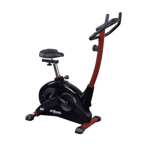 Best Fitness BFUB1 Upright Exercise Bike - Black/Red