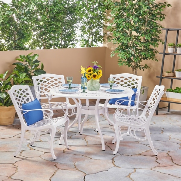 Shop Phoenix Traditional Outdoor 4 Seater Round Cast