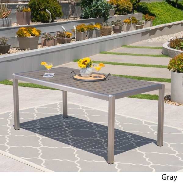 Shop Cape Coral Outdoor Aluminum Dining Table With Faux