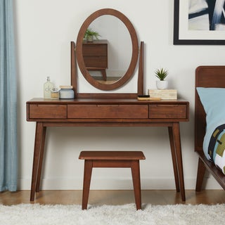 Carson Carrington Bernadette Vanity & Mirror with Stool