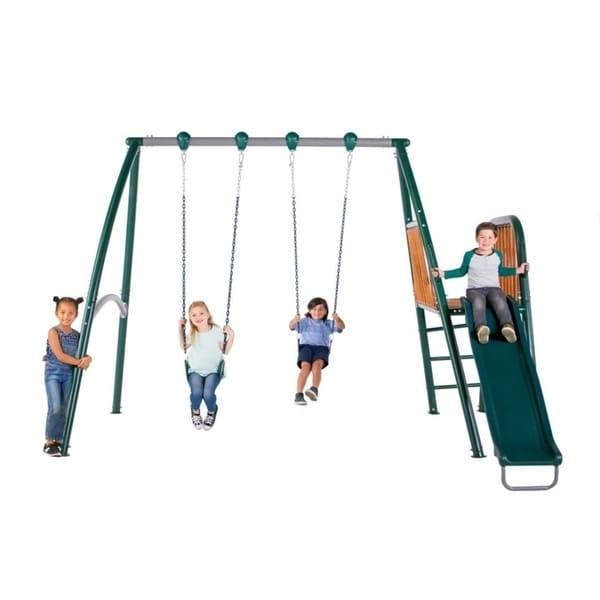 Shop Sportspower Alta Oaks Heavy Duty A Frame Swing Set With Wooden