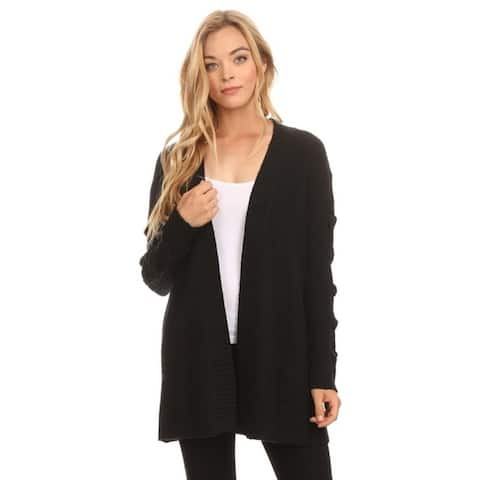 High Secret Women's Knit Textured Open Front Cardigan