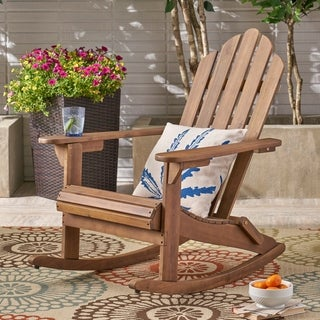 Hollywood Outdoor Adirondack Acacia Rocking Chair by Christopher Knight Home