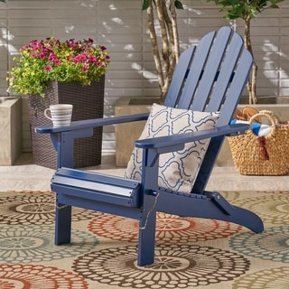 Hollywood Outdoor Foldable Acacia Adirondack Chair by Christopher Knight Home