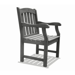 Link to Surfside Outdoor Hand-Scraped Hardwood Armchair by Havenside Home Similar Items in Patio Furniture