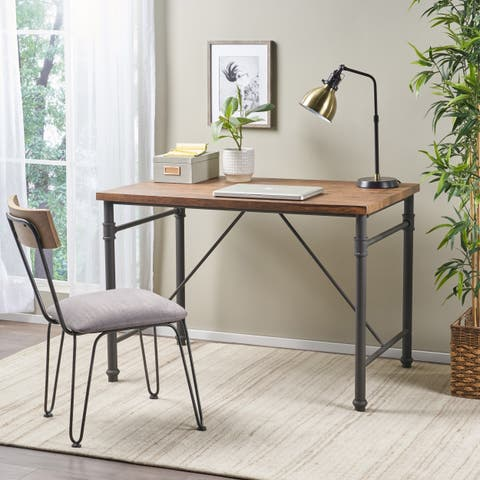 Balthazar Industrial Faux Wood Desk by Christopher Knight Home
