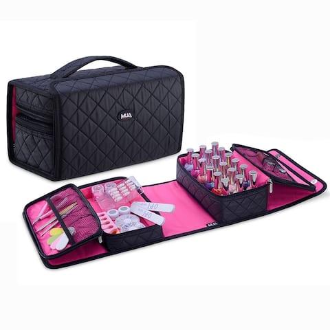 KIOTA Nail Polish Manicure Set Soft Storage Cosmetic Case Makeup Bag