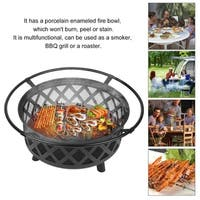 Fire Pit Wood Burning Fireplace Heater Bowl Round Firepit BBQ Stove