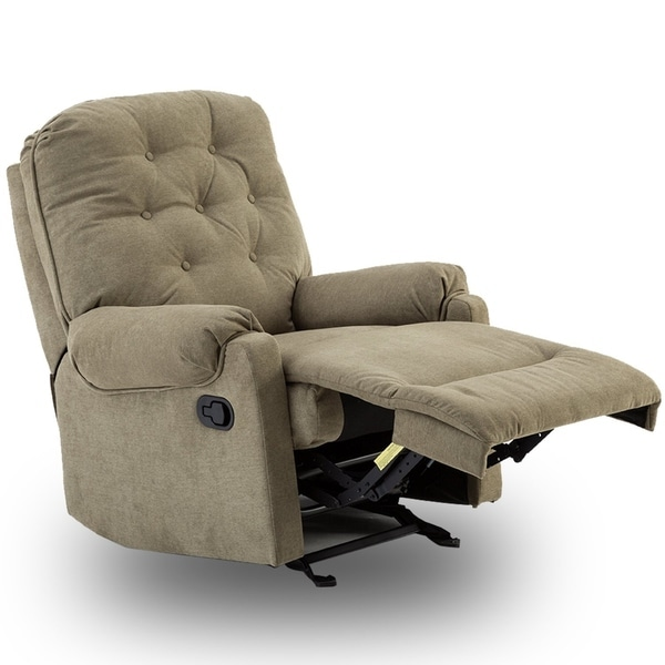 Shop Bonzy Glider Recliner Tufted Overstuffed Chair With