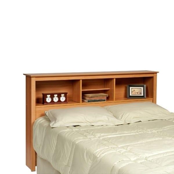 Montego Maple Full Queen Bookcase Headboard