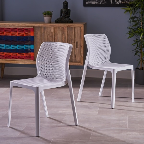 Portia Modern Plastic Accent Chair (Set of 2) by Christopher Knight Home