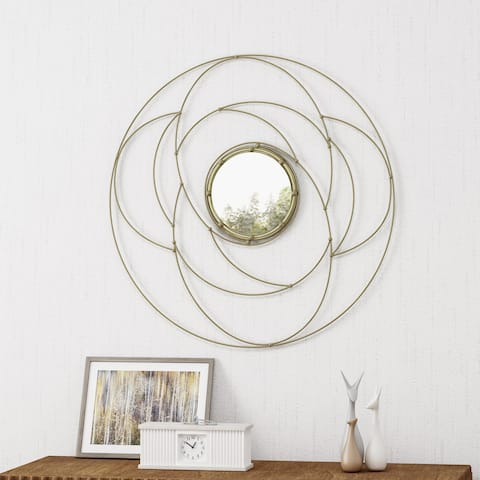 Evonne Modern Circular Wall Mirror by Christopher Knight Home - N/A
