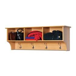 Montego Maple Entryway Cubbie Shelf