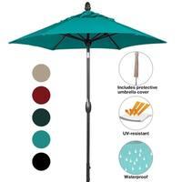SORARA Patio Umbrella Outdoor Market Table Umbrella, 7-1/2 Feet, Blue