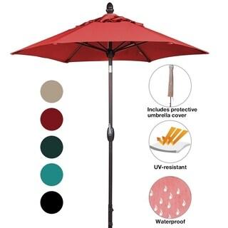 SORARA Patio Umbrella Outdoor Market Table Umbrella, 7-1/2 Feet, Red