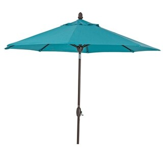 SORARA Sunbrella Patio Umbrella 9' Outdoor Market Table Umbrella, Blue