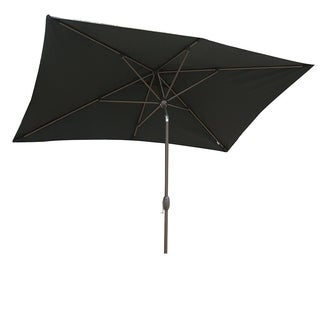 SORARA Patio Umbrella Rectangular Outdoor Market Table Umbrella, Black