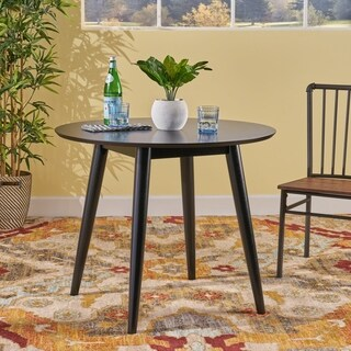 Wynonna Mid Century Modern Round Faux Wood Dining Table by Christopher Knight Home