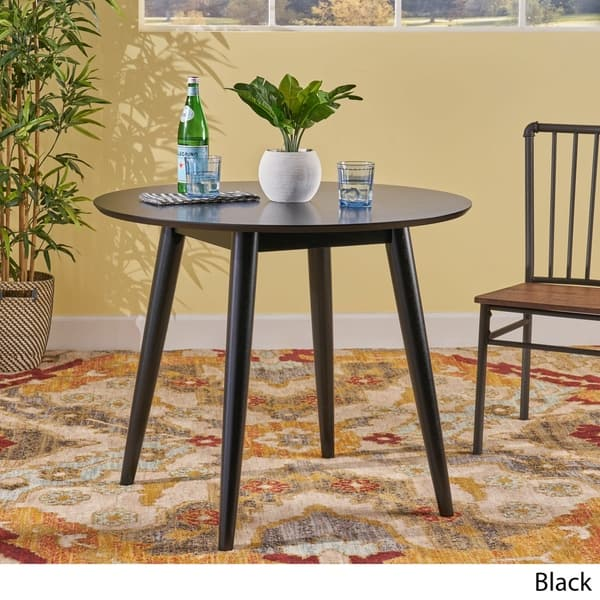 Shop Wynonna Mid Century Modern Round Faux Wood Dining Table By Christopher Knight Home Overstock 22051701