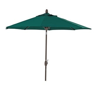 SORARA Sunbrella Patio Umbrella 9' Outdoor Market Table Umbrella,Green