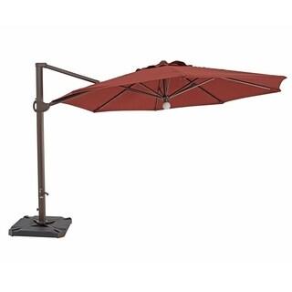 SORARA Patio Umbrella & Center Light,Cross Base,Red