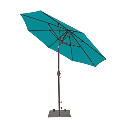 SORARA Patio Umbrella 11Feet Outdoor Table Market Umbrella,8 Ribs,Blue