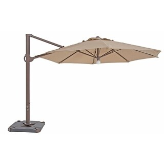 SORARA Patio Umbrella & Center Light,Cross Base & Umbrella Cover,Beige
