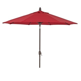SORARA Sunbrella Patio Umbrella 9' Outdoor Market Table Umbrella, Red