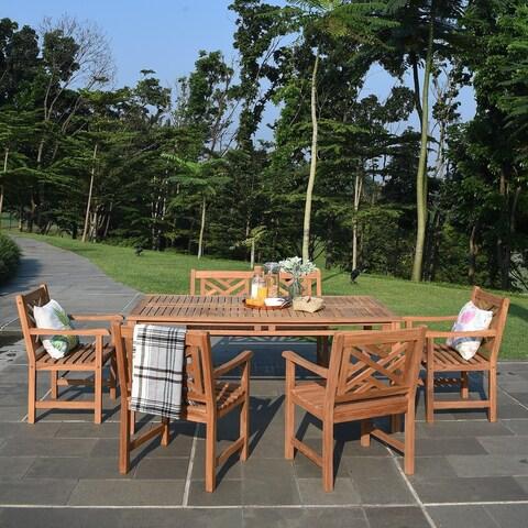 Cambridge Casual Isla 6-piece Teak Patio Dining Set