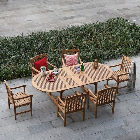 Leon 7-piece Extendable Table Dining Set by Havenside Home