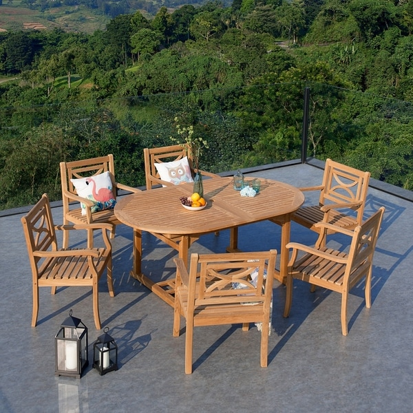 Havenside Home Lowell 7-piece Extendable Table Dining Set