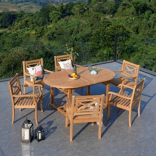 Cambridge Casual Bardin 7pc Extendable Table Dining Set