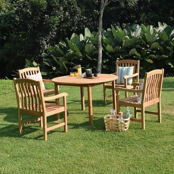 Havenside Home Leon 5-piece Round Table Dining Set