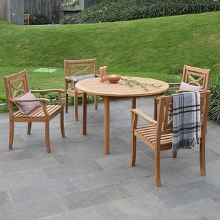Havenside Home Lowell 5-piece Round Table Dining Set