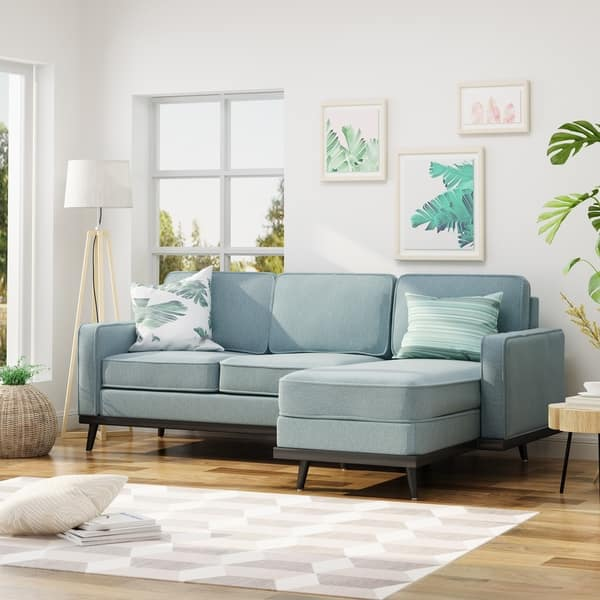 Shop Matilda Mid Century Fabric Chaise Sectional Sofa by ...