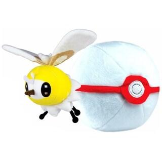 Pokemon Zipper Poke Ball Plush - Premier Ball/Cutiefly
