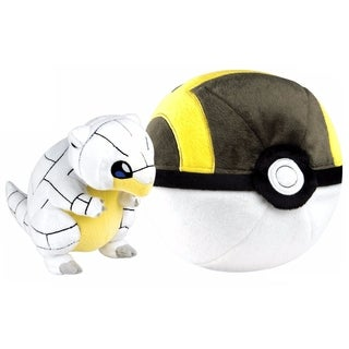 Pokemon Zipper Poke Ball Plush - Great Ball/Alolan Sandshrew