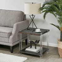 "Madison Park Alford Dark Brown End Table - 22""w x 22""d x 21""h"