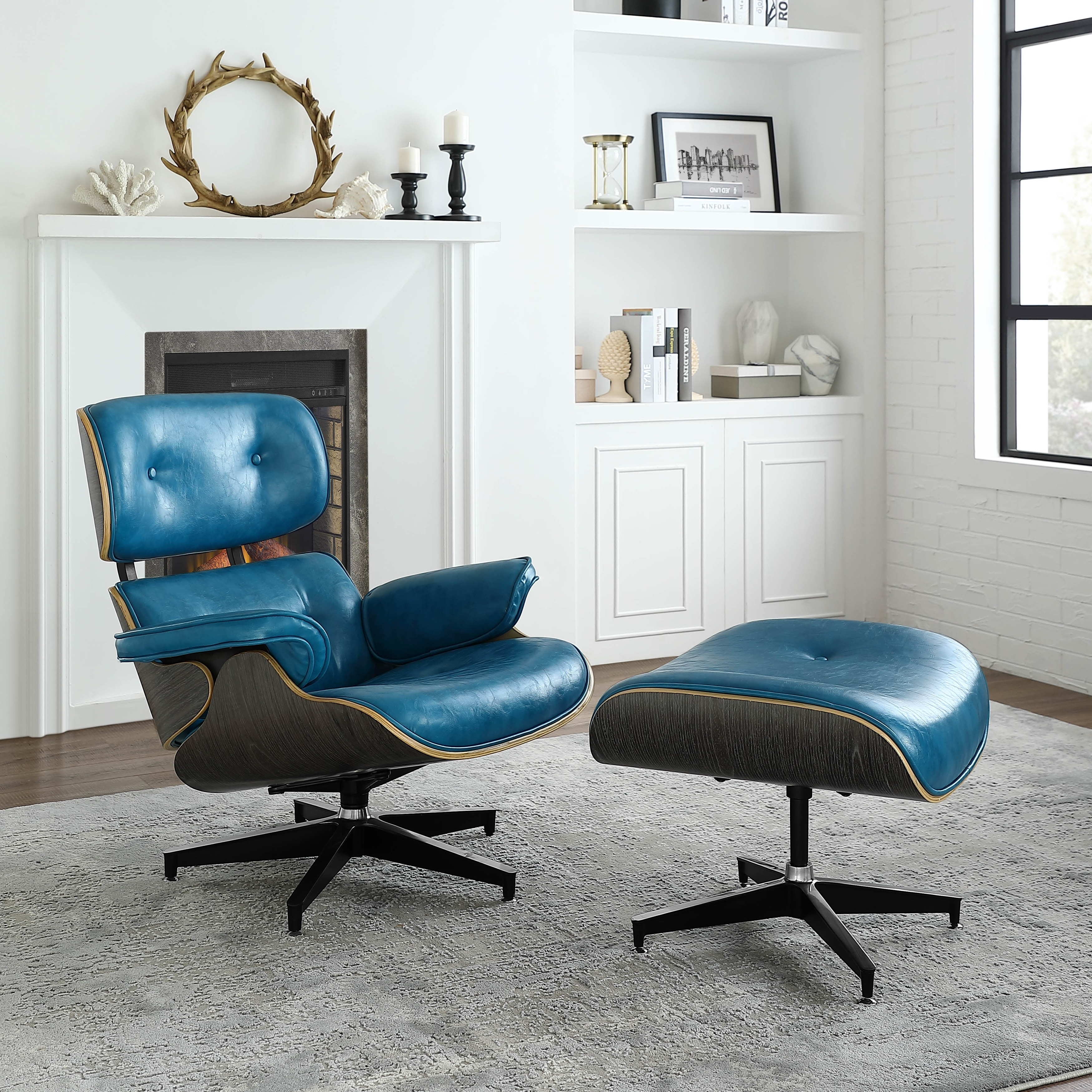 Remarkable Corvus Neville Mid Century Lounge Chair Set With Ottoman Ncnpc Chair Design For Home Ncnpcorg