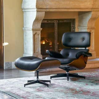 Corvus Neville Mid-century Lounge Chair Set with Ottoman