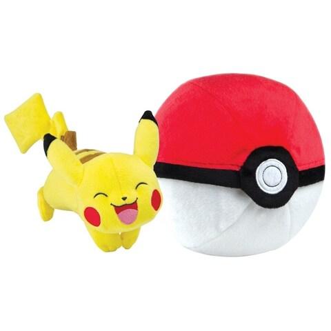 Pokemon Zipper Poke Ball Plush - Poke Ball/Pikachu