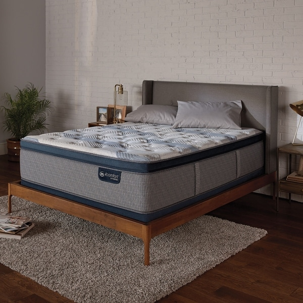 shop serta icomfort hybrid blue fusion 300 14 inch plush pillow top twin size mattress free. Black Bedroom Furniture Sets. Home Design Ideas