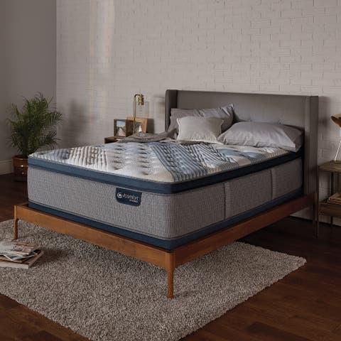 Serta iComfort Blue Fusion 1000 14-inch Luxury Firm Hybrid Pillow Top Mattress Set