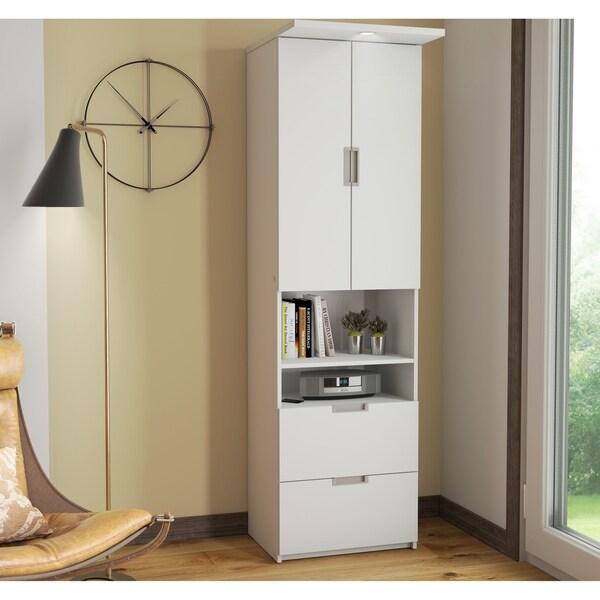 Bestar Lumina Storage Unit With Drawers U0026amp; Doors