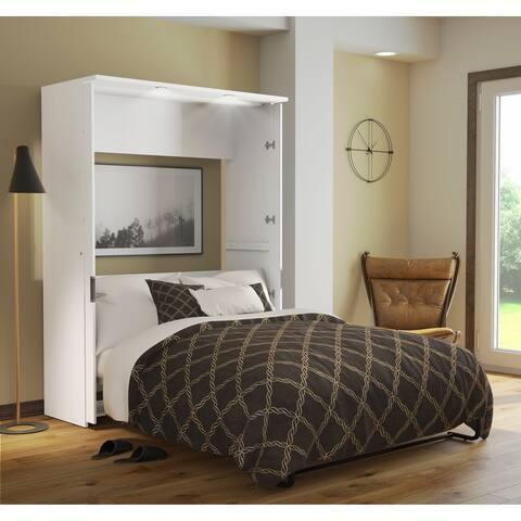 Bestar Lumina Full Wall Bed in White