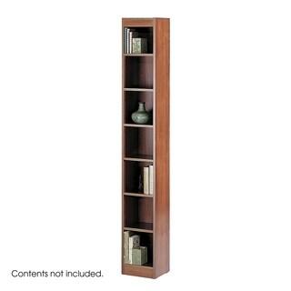 "Safco 7 Shelf Wood Veneer Baby Bookcase 12""W - Cherry"