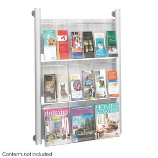 Safco 9 pocket Luxe Magazine Rack - Silver
