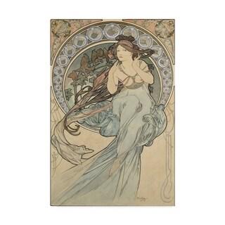 Alphonse Marie Mucha 'La Musique, 1898' Canvas Art