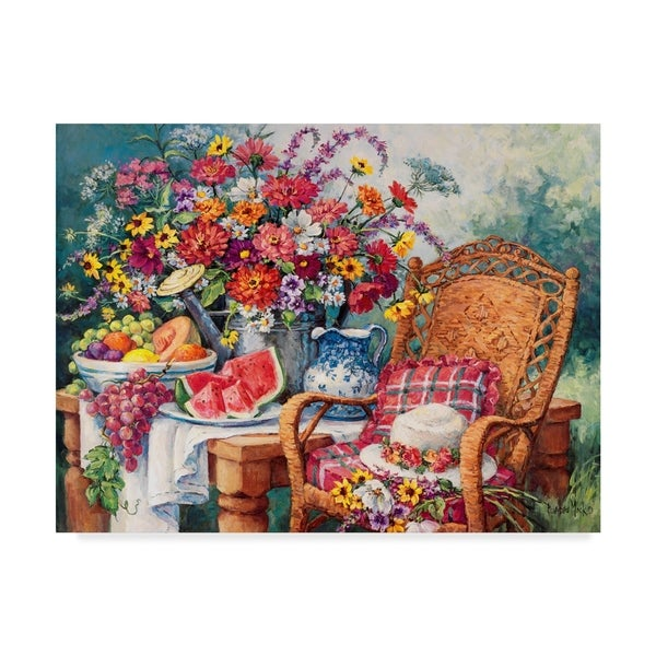 Barbara Mock 'A Summers Picnic' Canvas Art 36767180