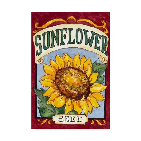 Logo Mockup Modern White Hang Sign: Shop Barbara Mock 'Large Sunflower Seed Packet' Canvas Art
